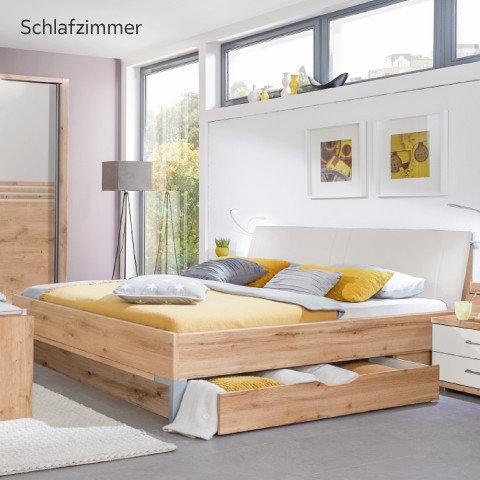 Voleo Schlafzimmer Bett Gelb Holz