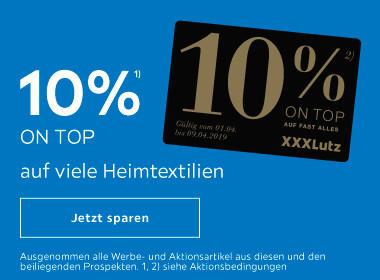 10% ON TOP auf viele Heimtextilien