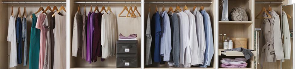 Kleiderschrankübersicht Ordnung