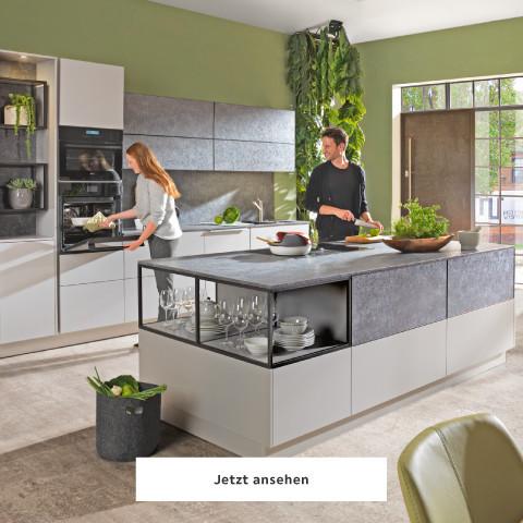 Novel Küche grau weiß