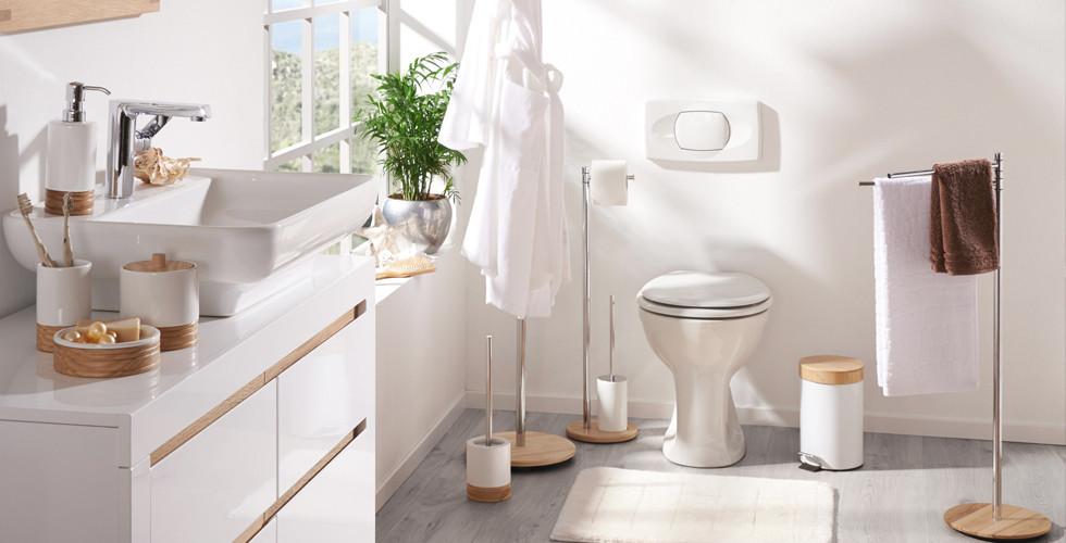 Aufeinander abgestimmte Badaccessoires im Set für Bad und WC finden Sie bei XXXLutz.