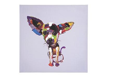 Ölgemälde Kare Design Hund