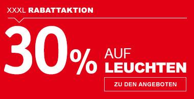 30% auf Leuchten
