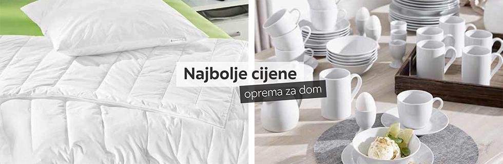 Kvalitetan poplun i jastuk i servis za jelo Lesnina XXXL