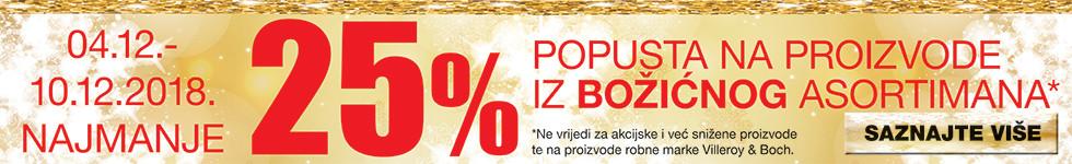 akcija božićni asortiman 25%