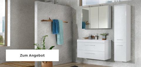 Badezimmerserien Weiß Spiegel Griffe Silber