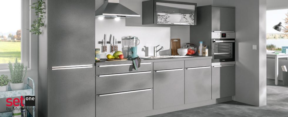 Musterring Küchenzeile grau