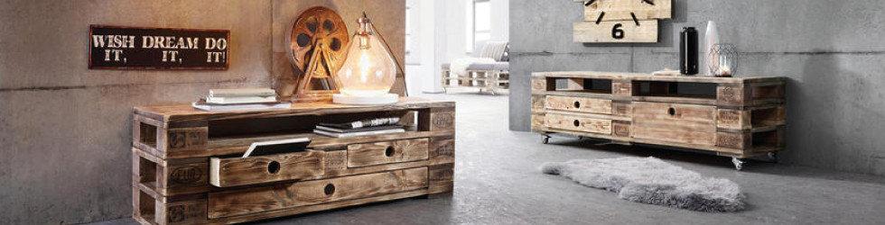 Trendmöbel Braun Grau Holz