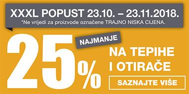 25% popusta na tepihe i otirače u Lesnini