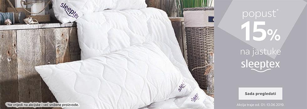 15% popusta na Sleeptex jastuke