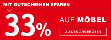 33% sparen auf Möbel