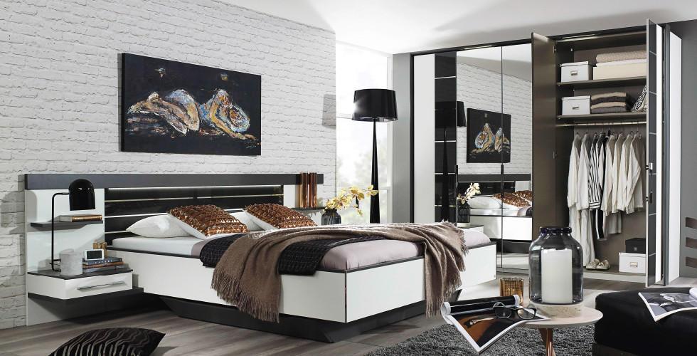 Crno bijela moderna spavaća soba