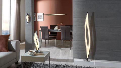 LED-Stehlampen in Tropfenform
