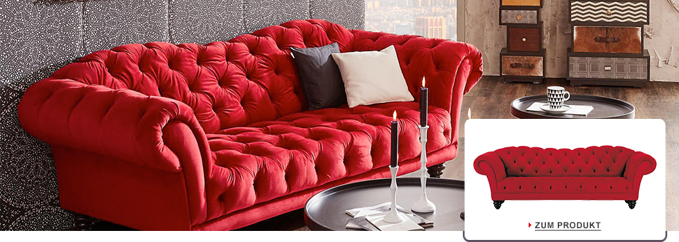 chesterfield sofa rot textil