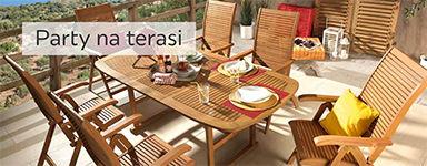 drveni vrtni stol i stolice