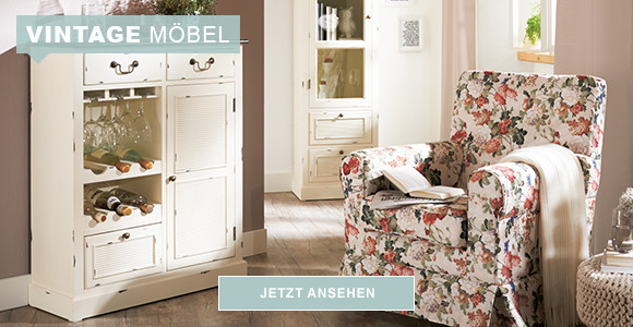 Vintage Möbel - Vintagesessel und Schrank