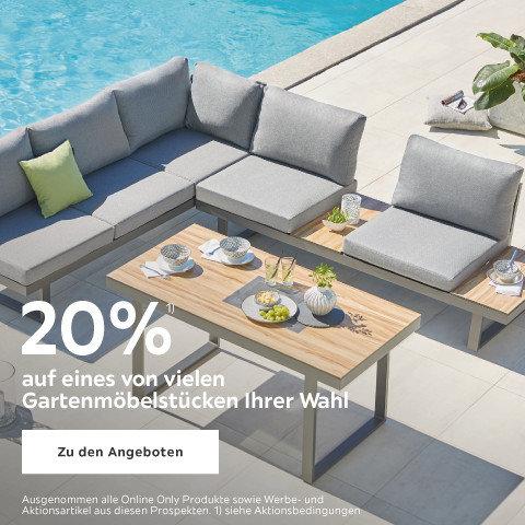 20% auf eines von vielen Gartenmöbelstücken Ihrer Wahl  - MOEBEL20