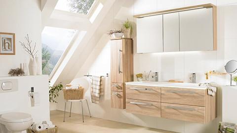 Koupelnový set ve vzhledu dřeva