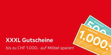 XXXL Gutscheine bis zu CHF 1.000.- auf Möbel sparen!
