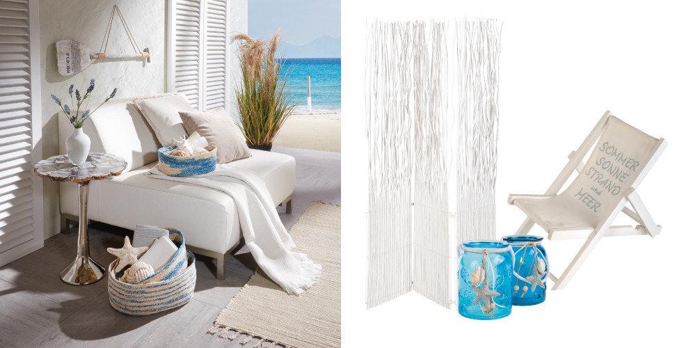 Ambia Home Trends Beachhouse Strand Blau Weiß