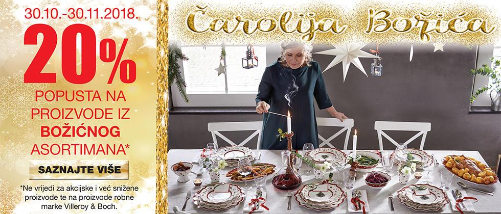 božićni ukrasi i posuđe