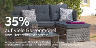 35% auf viele Gartenmöbel vom Herstellerlistenpreis