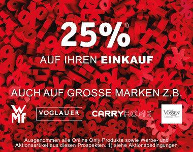 25% auf Ihren Einkauf