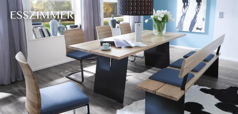 Cassando Esszimmer blaue Sitzgarnitur und Esstisch - jetzt ansehen