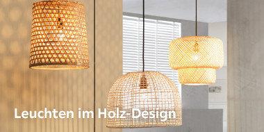 Leuchten im Holz-Design