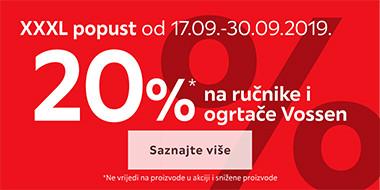 20% popusta na ručnike i ogrtače Vossen u Lesnini