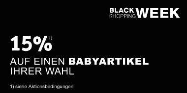15% auf einen Babyartikel Ihrer Wahl Black Shopping Week