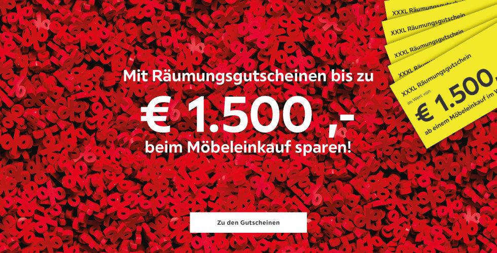 Räumungsgutscheine Bis zu 1.500 € beim Möbeleinkauf sparen!