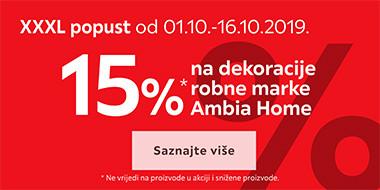 15% popusta na dekoracije Ambia Home