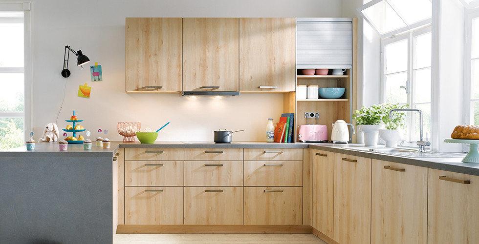 Klassische Küche aus Holz