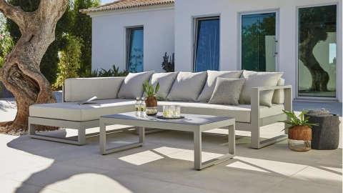 vrtna lounge garnitura siva