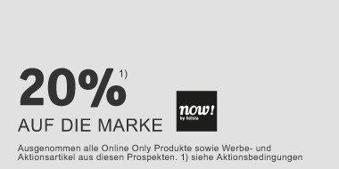 20% auf die Marke  Now! by Hülsta