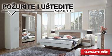Elegantna i moderna spavaća soba XXXL Lesnina