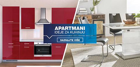 opremanje kuhinje u apartmanu