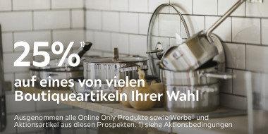 25% auf eines von vielen Boutiqueartikeln Ihrer Wahl