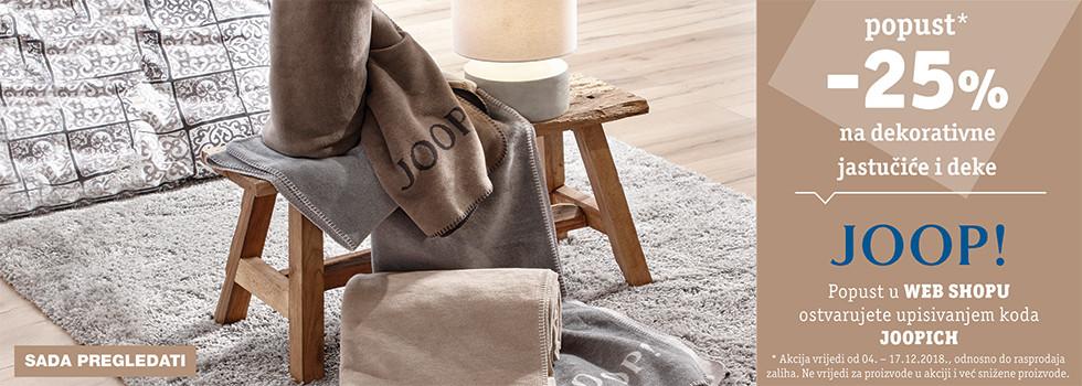 25% popusta na dekorativne jastučiće i deke robne marke Joop XXXL Lesnina