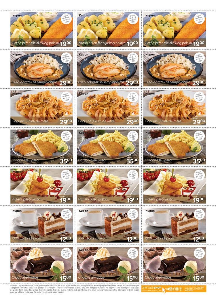 21 novi kupon za ponudu iz XXXL restorana