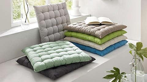 Prošiveni jastuci za sjedenje raznih boja