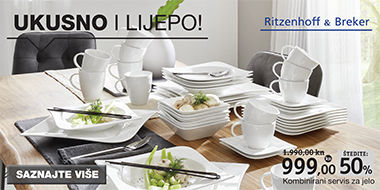 bijeli kvadratni servis za jelo nepravilni oblik