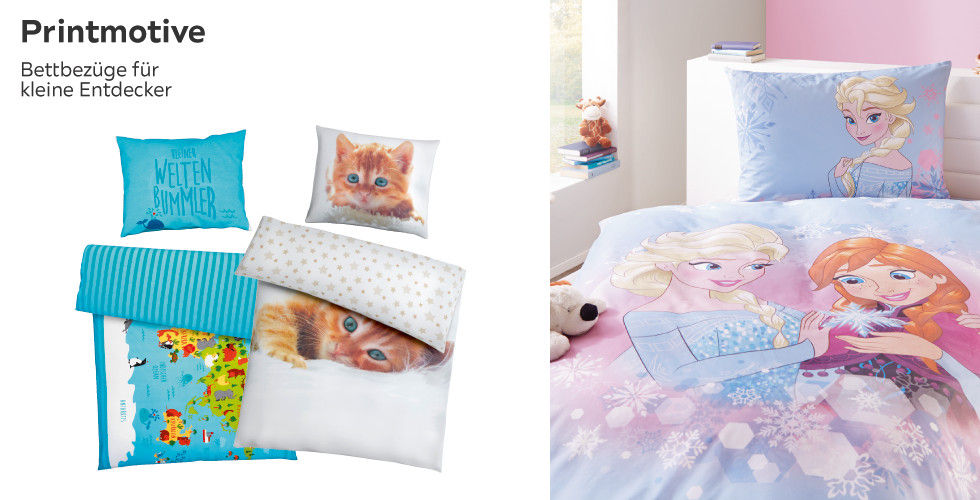 Printmotive - Bettbezüge für kleine Entdecker
