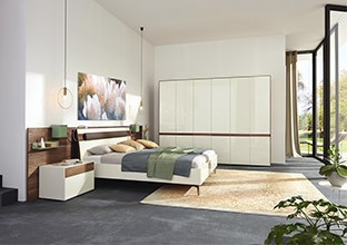 Elegantní ložnice přírodní barvy, provedení dřevo v XXXLutz.