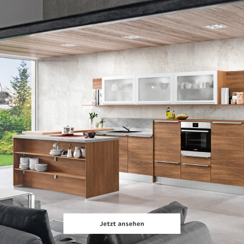 Welnova Küche dunkelbraun