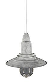 Haengeleuchte aus Metall in grau