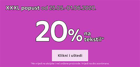 20% popusta na tekstil