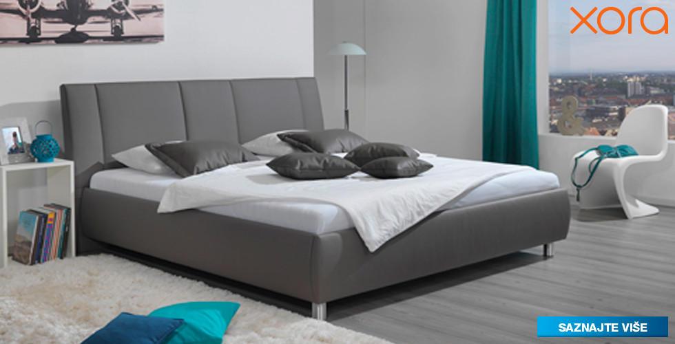 sivi boxspring krevet