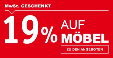 19% MwSt geschenkt